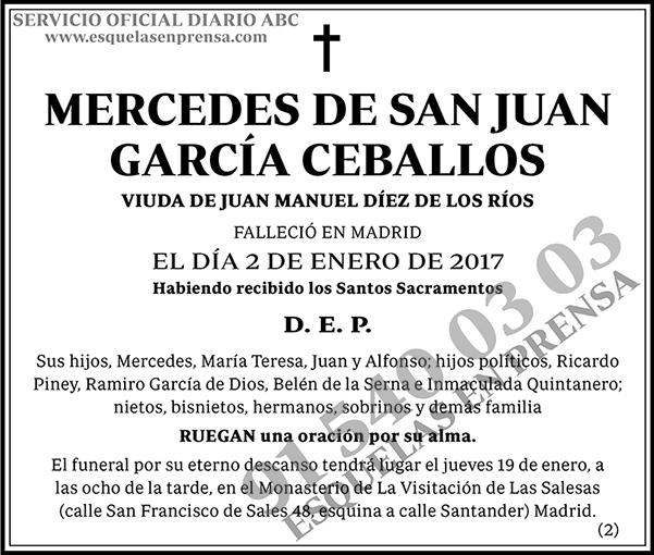Mercedes de San Juan García Ceballos